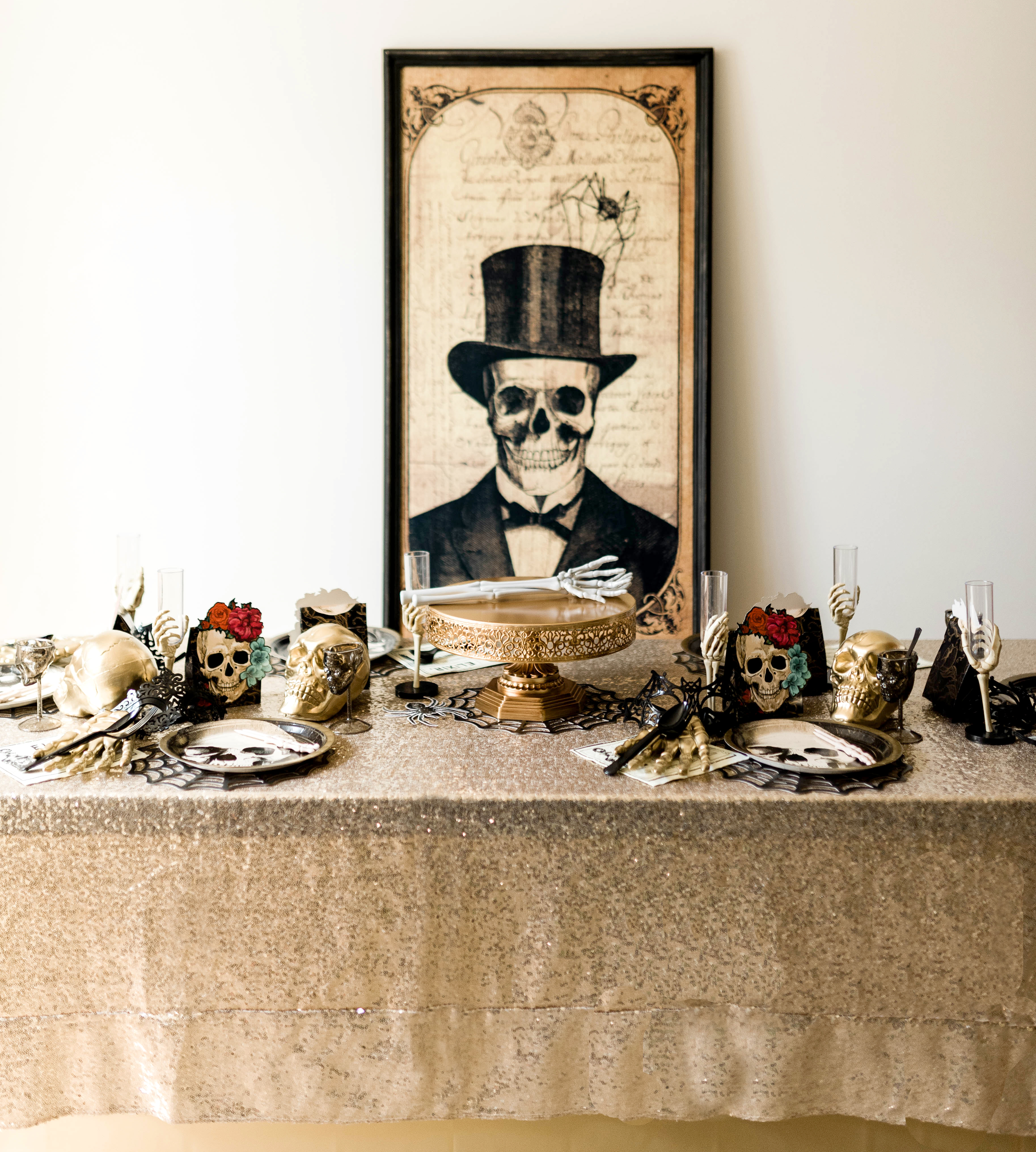 Gothic Halloween Party Tablescape