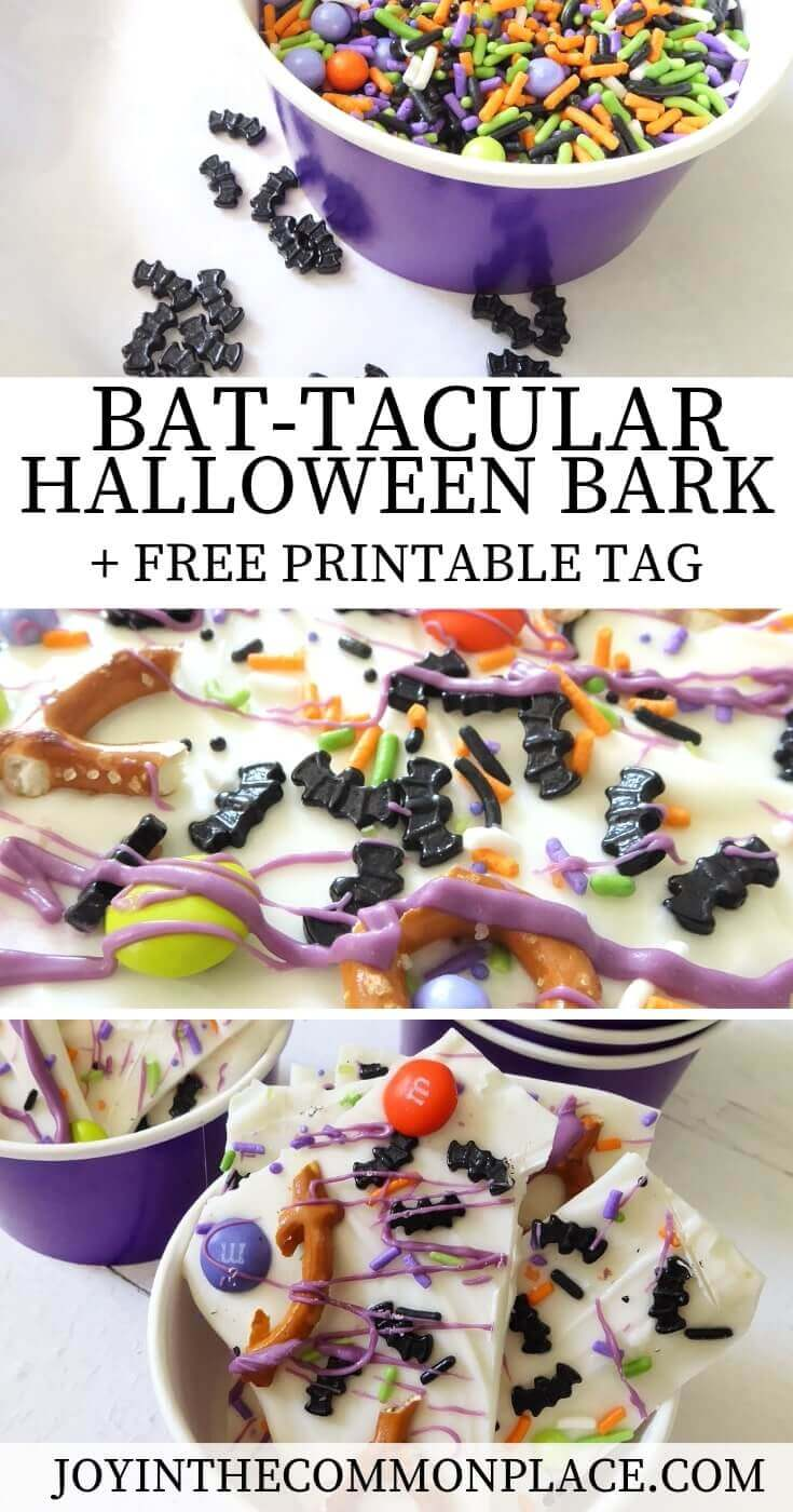 Bat-tacular Halloween White Chocolate Bark