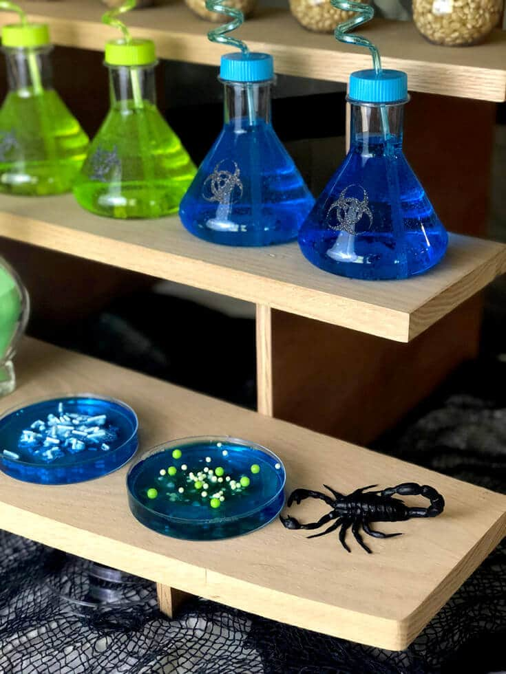 Mad Science Party drinks and treats