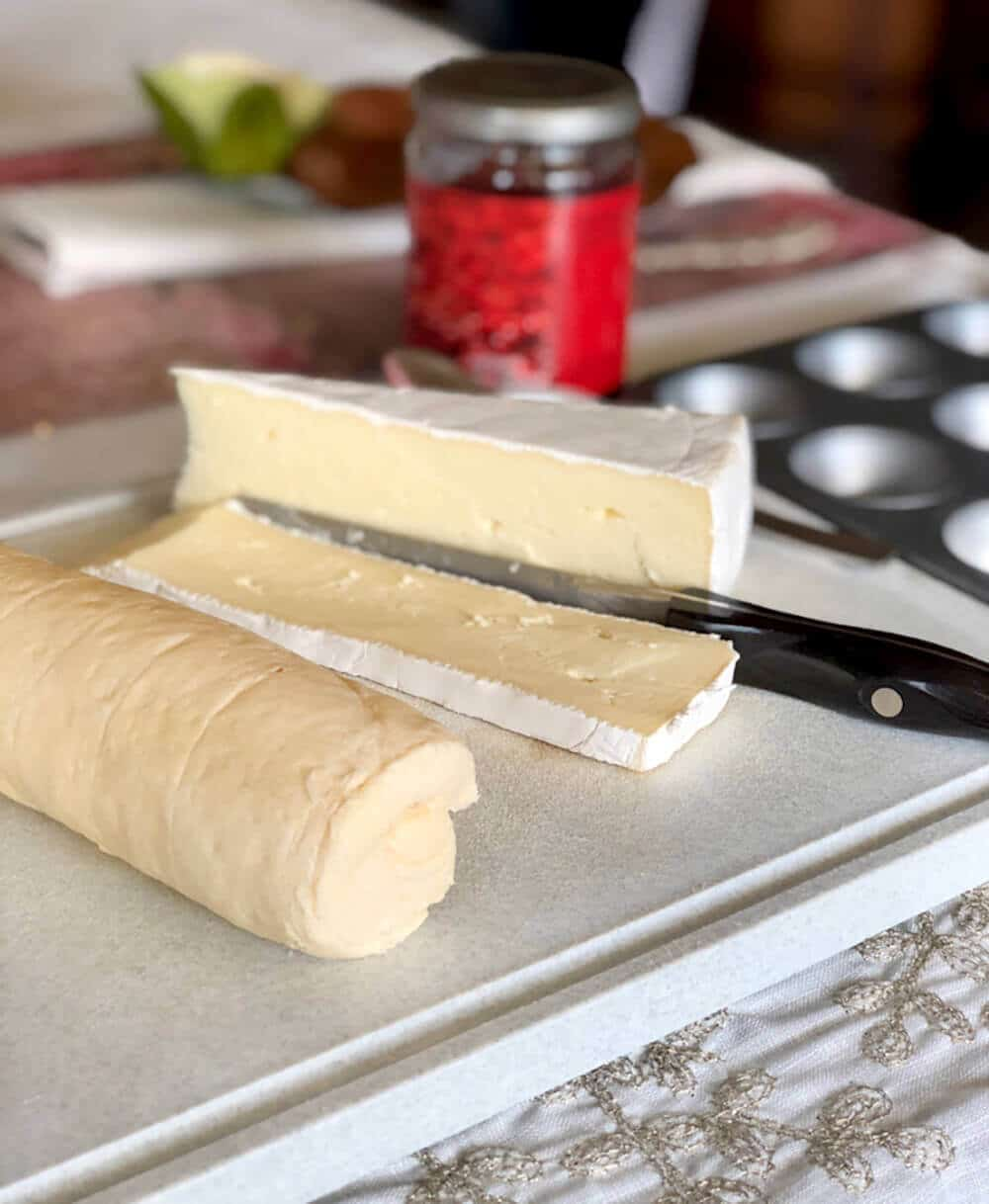 Simple ingredients for Cranberry brie tart appetizer