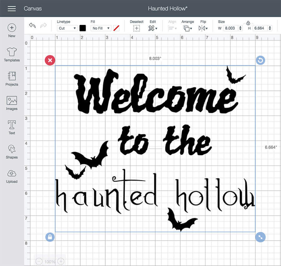 SVG file design welcome to the haunted hollow