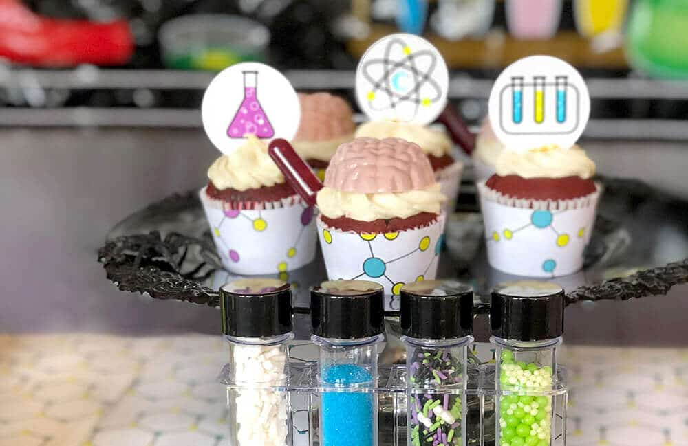 Brainy Mad Science Party Cupcakes
