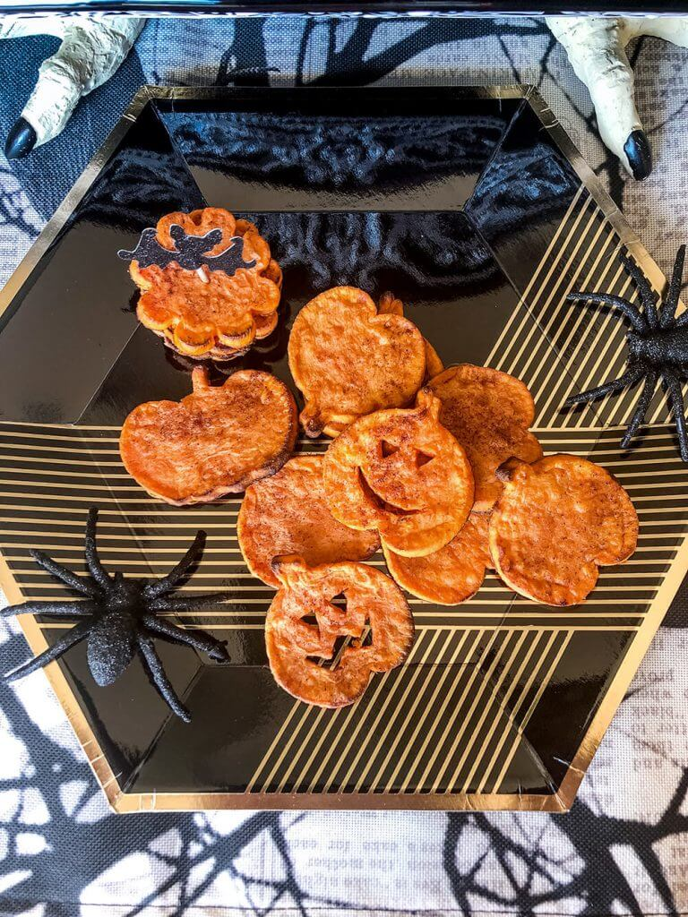 Baked sweet potato rounds a healthy Halloween appetizer