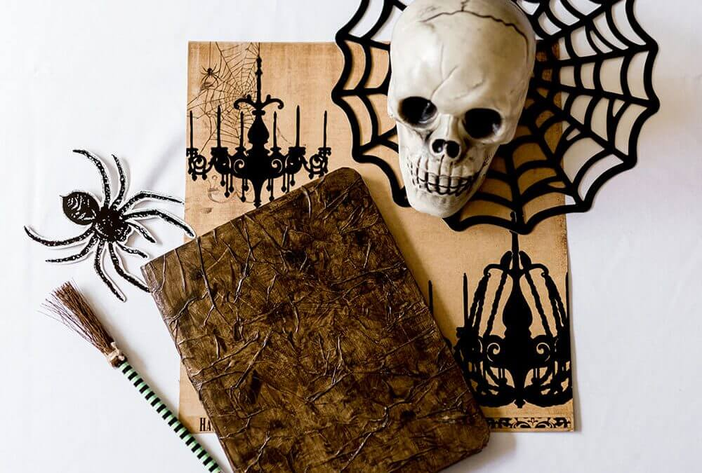 Faux Leather Paper Spell Book Halloween Tutorial