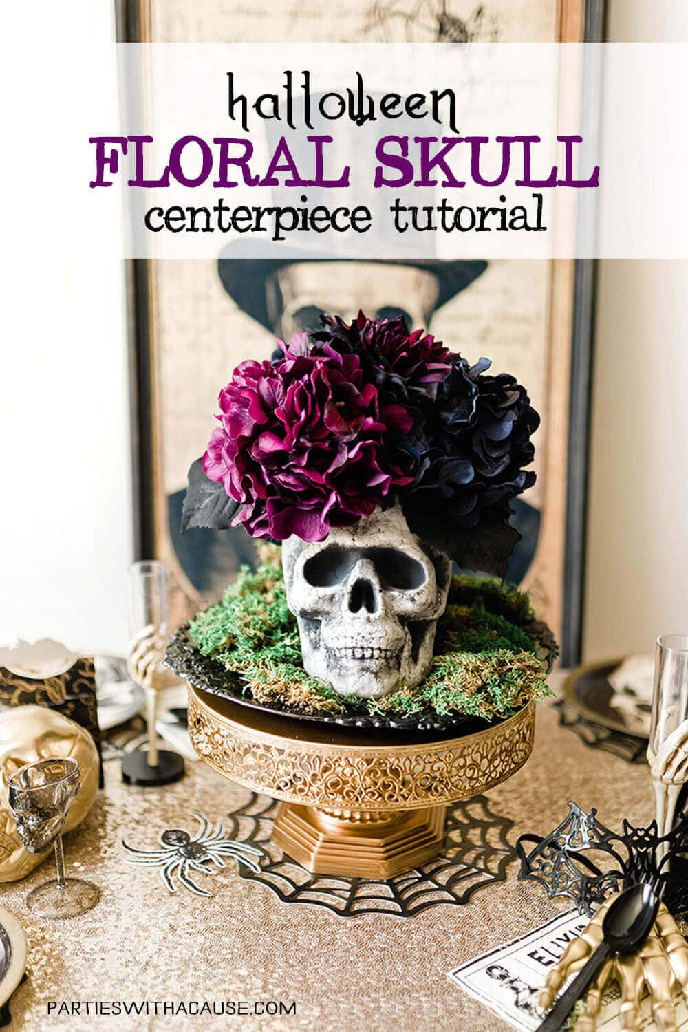Floral Skull Centerpiece Tutorial