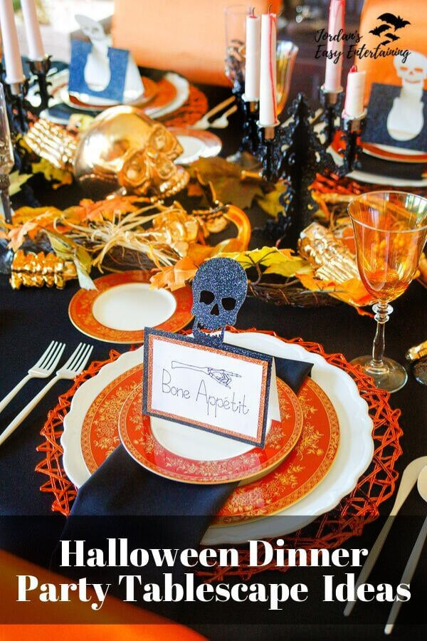 Halloween Dinner Party tablescape Ideas