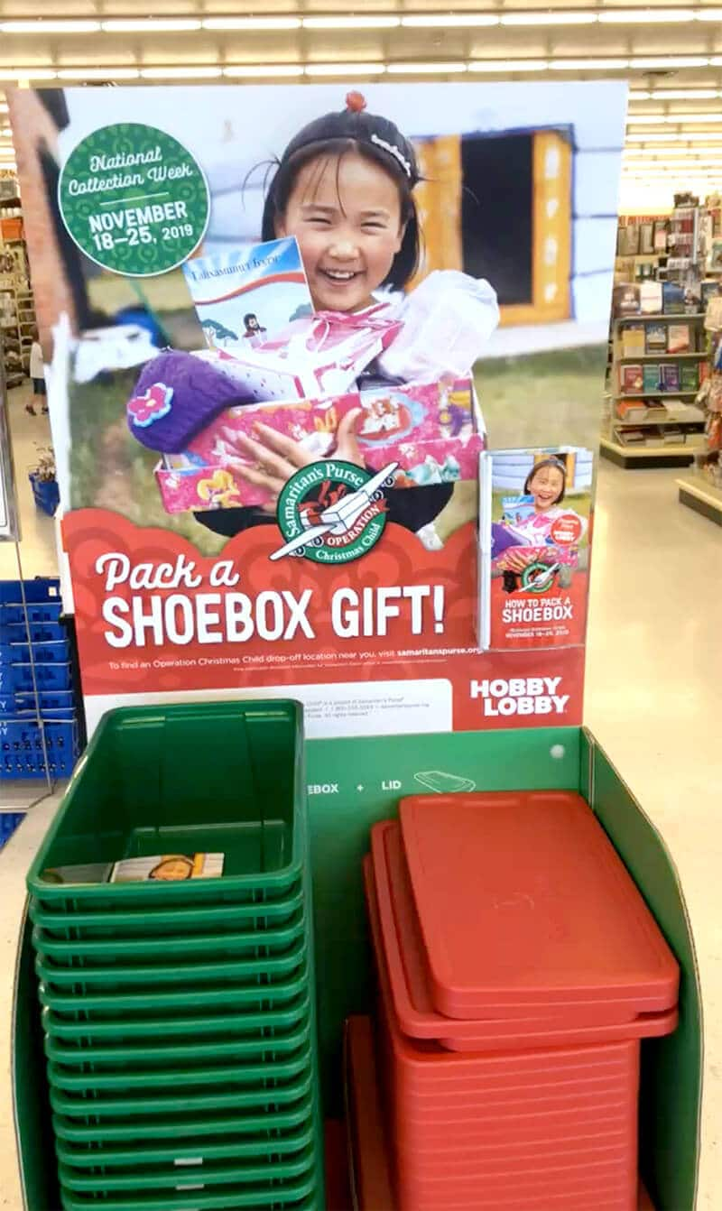 Shoebox Christmas gift with Operation Christmas Child