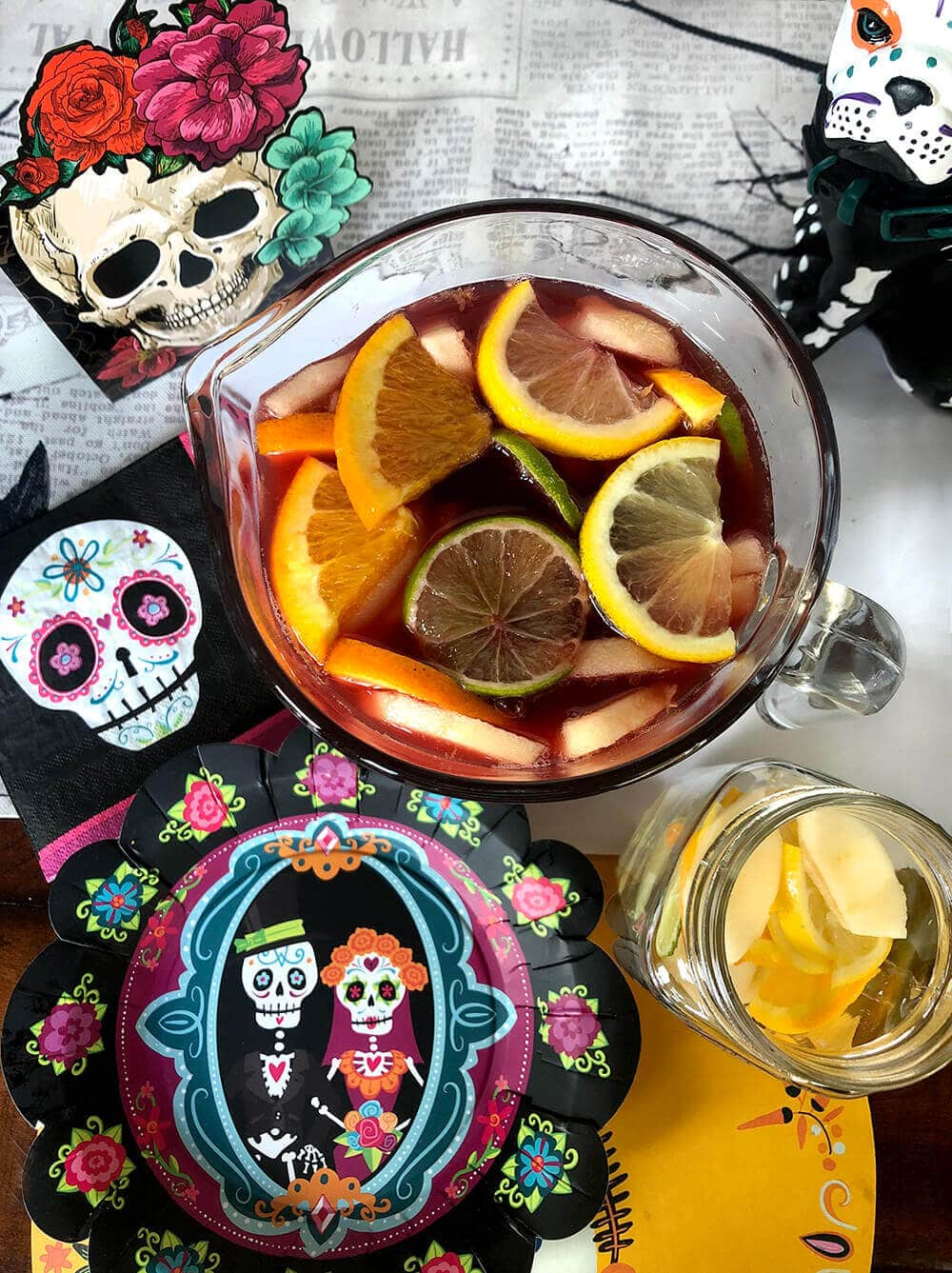 Non-alcoholic sangria recipe for Day fo the Dead
