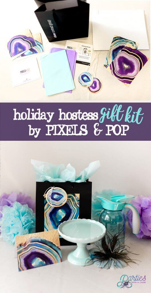 Pixels & Pop geode sustainable gift wrap kit - Salt Lake Party Stylist