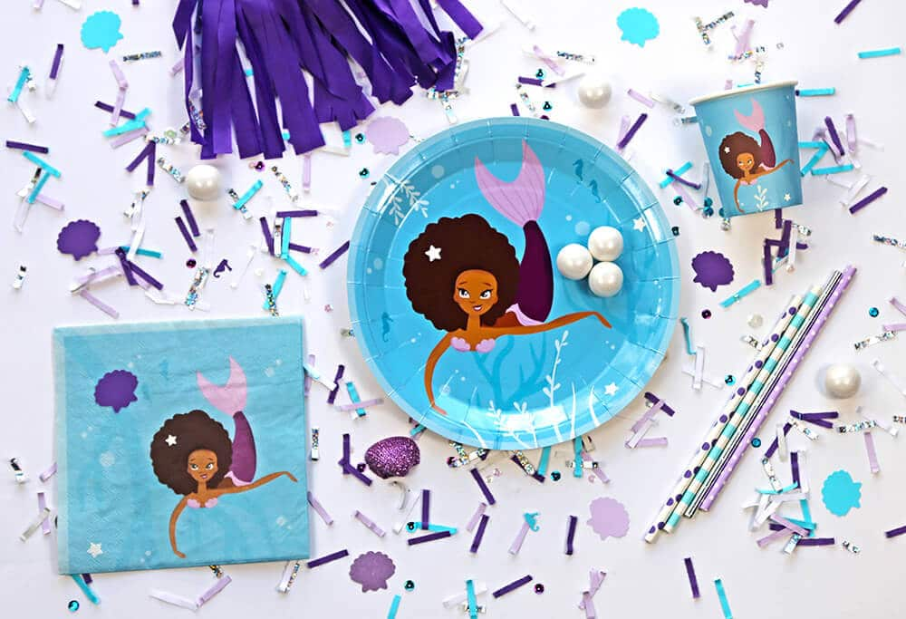 Mermaid Party supplies celebrating children of color