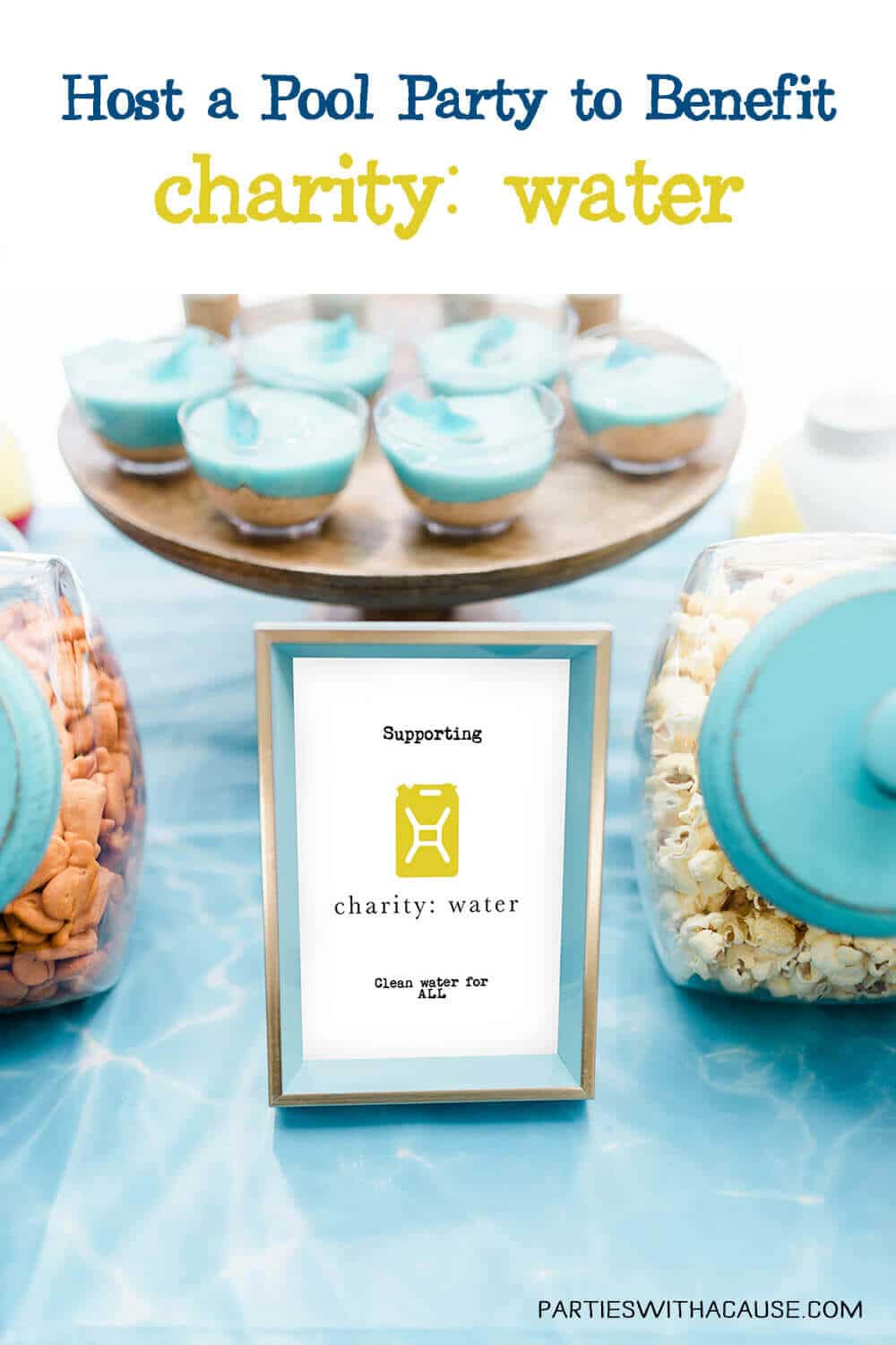 Pool party to benefit charity water