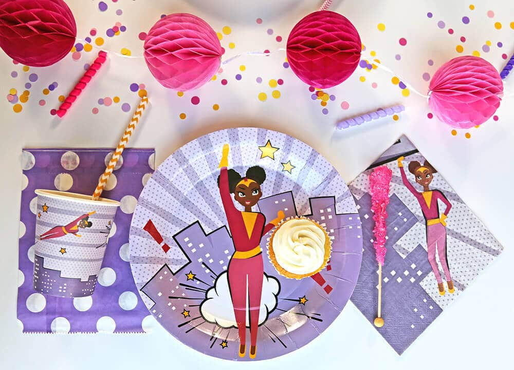 brown skinned super girl party supplies