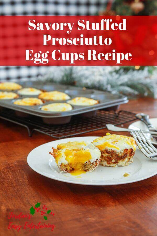 Savory stuffed prosciutto egg cups