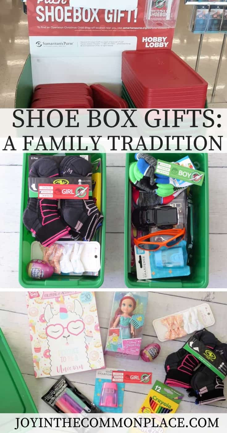 Shoe box Christmas gifts