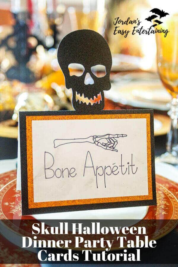 Bone Appetit Table card for Halloween