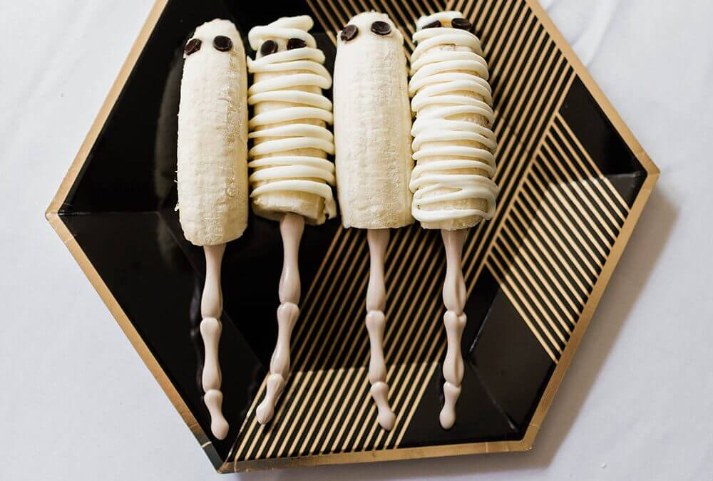 Mummy Frozen Bananas Healthy Halloween Treat