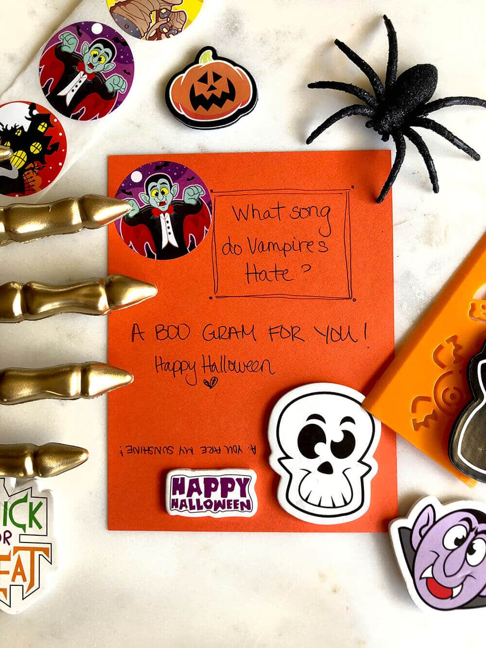 BOO Gram for Halloween kindness