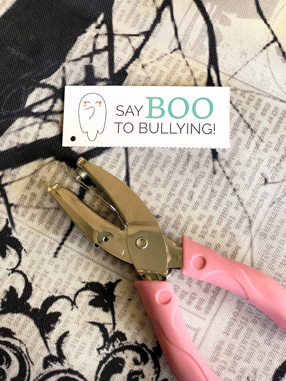 Say boo to bullying printable tag from Cultivate Kindness Box