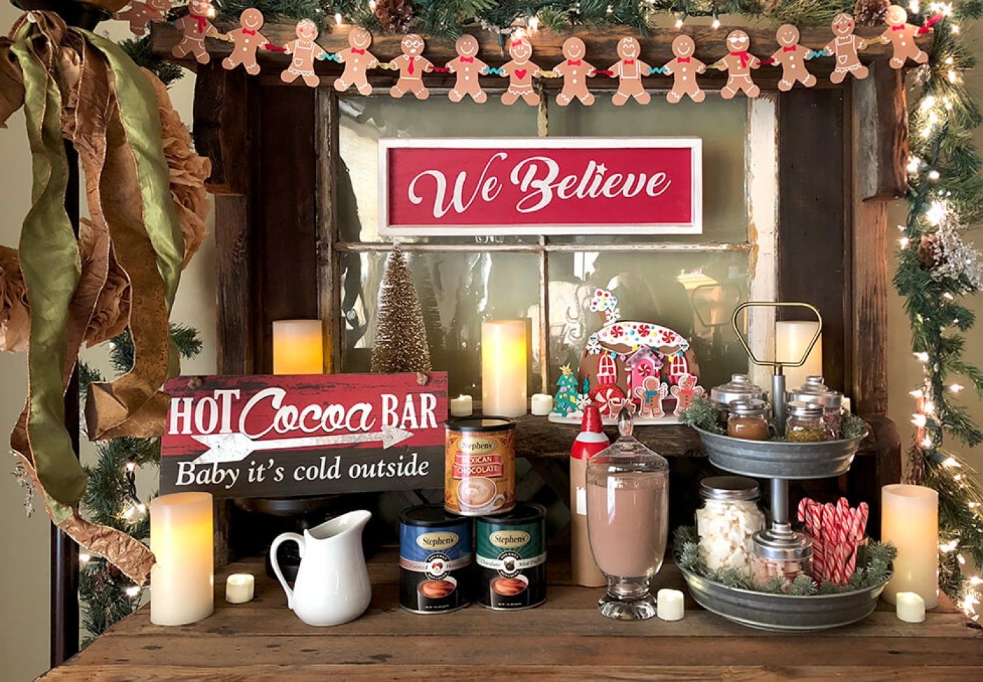 We believe in hot chocolate bars for Christmas!