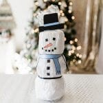 Toilet Paper Snowman Neighbor Christmas Gift Idea