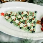 Healthy Fruit Christmas Tree Platter Tutorial