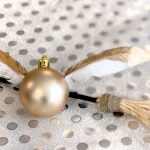 Simple Golden Snitch Ornament DIY