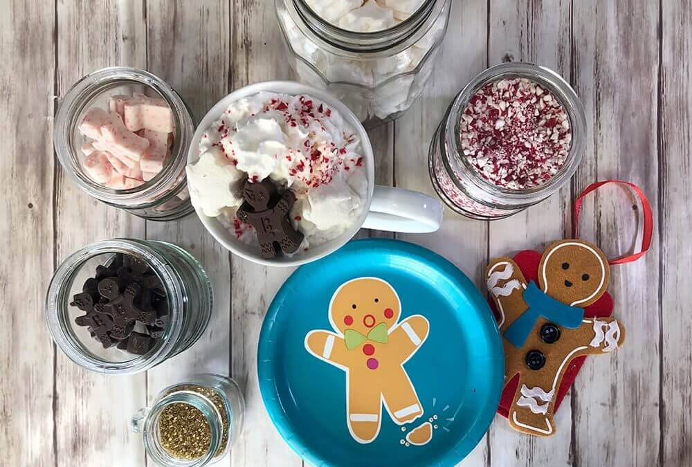 Gingerbread Themed Christmas Hot Chocolate Bar