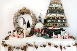 Gnomies for the holidays! Christmas decorations - Salt Lake City Party Stylist