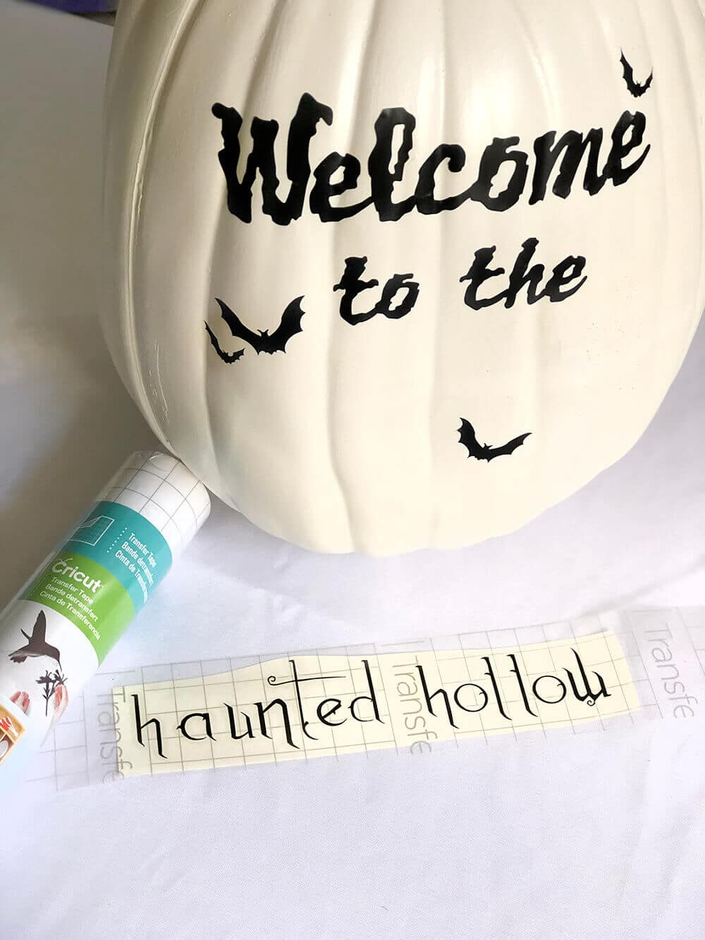Haunted hollow vinyl for custom pumpkin