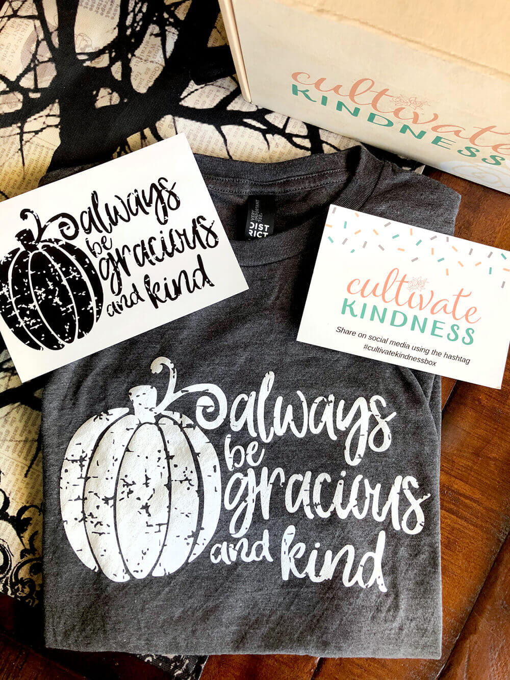 Always be gracious and kind cultivate kindness box