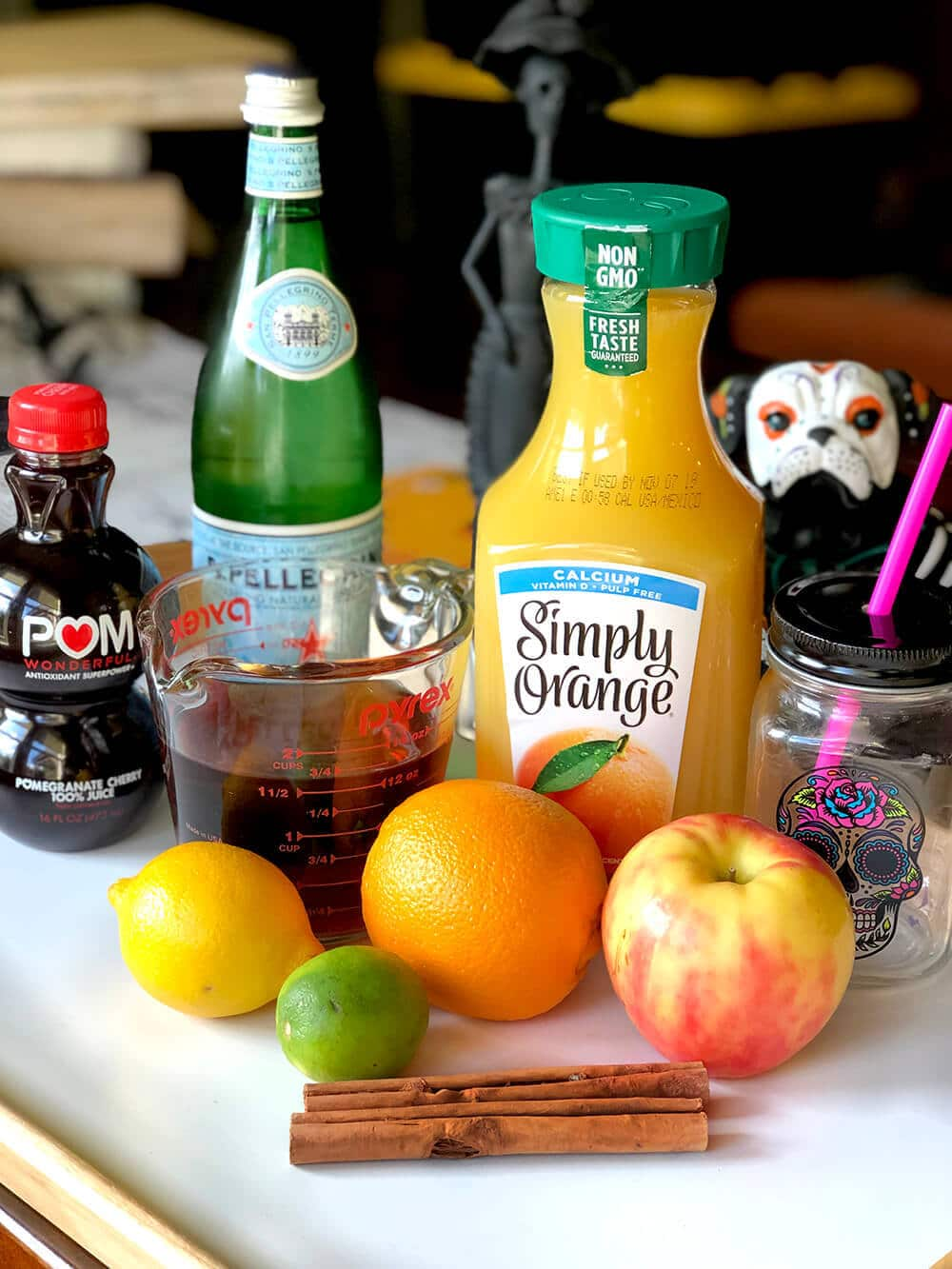 Simple ingredients for Non-alcoholic sangria recipe