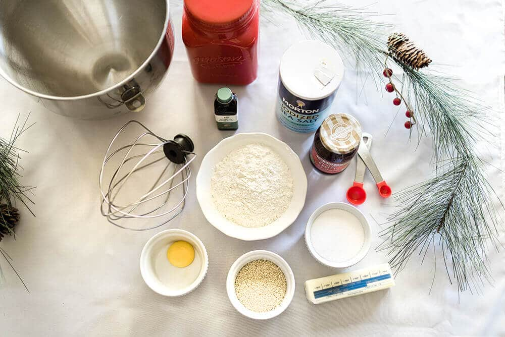Real simple ingredients for Christmas thumbprint cookie recipe