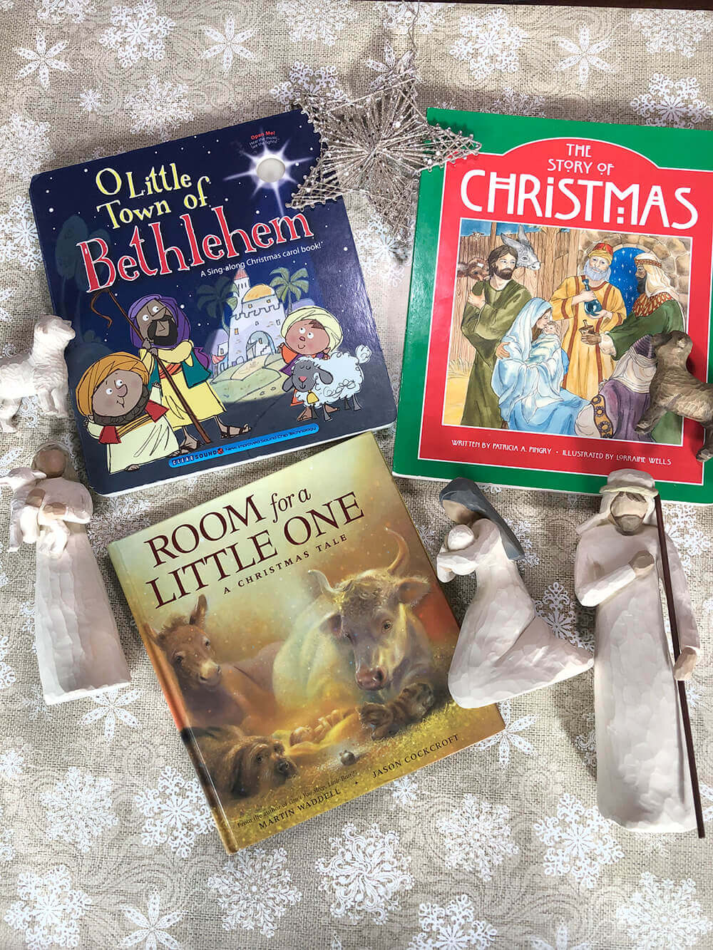 Books about the manger at Christmas