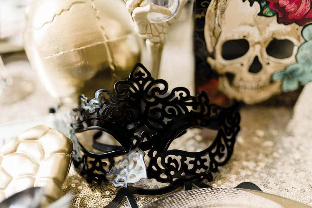 Gothic Halloween Party favor masks