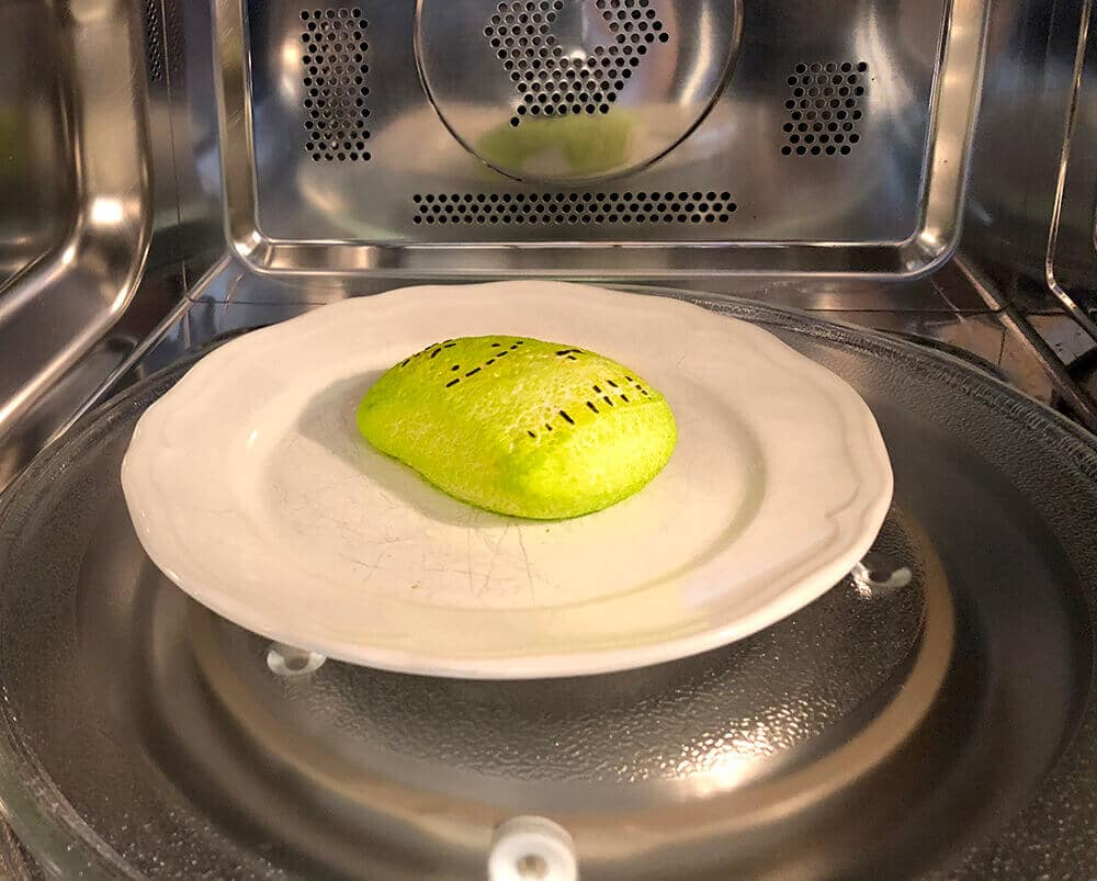 Frankenstein peep in microwave
