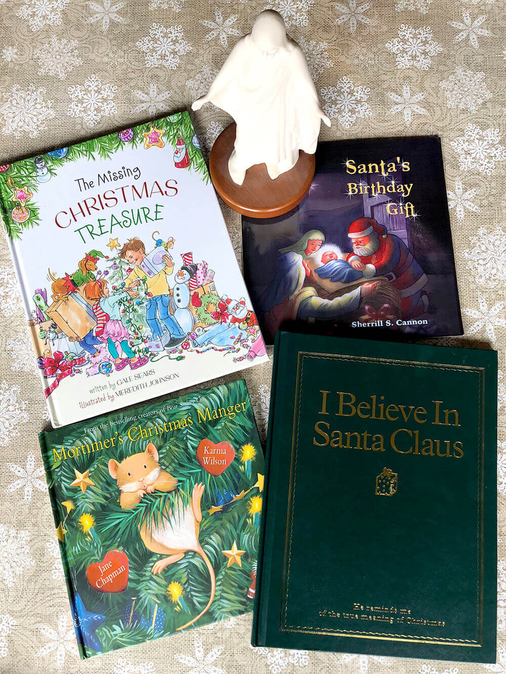 Nativity and Christ centered Santa books for Christmas