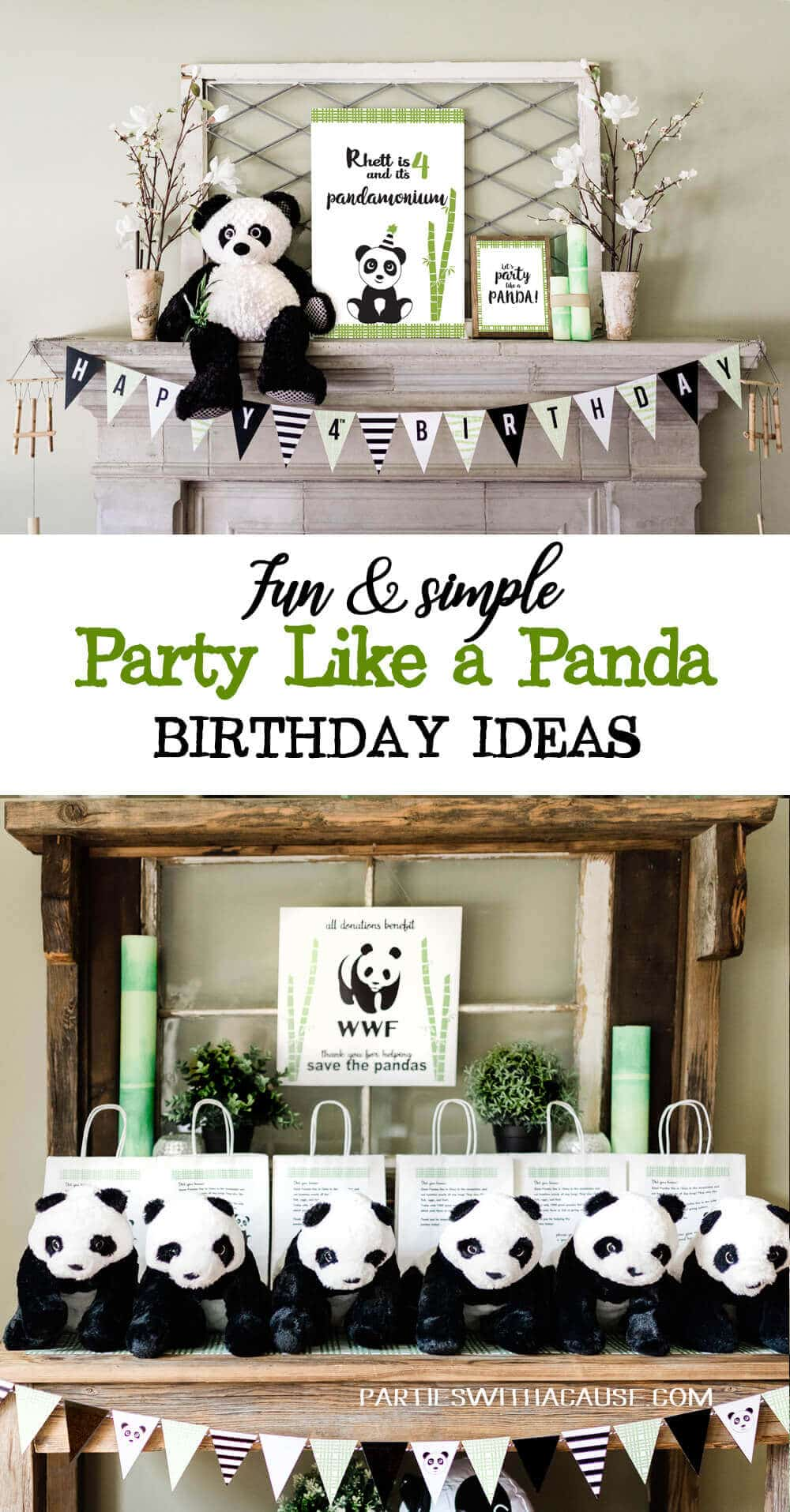 Fun & simple party like a panda birthday ideas