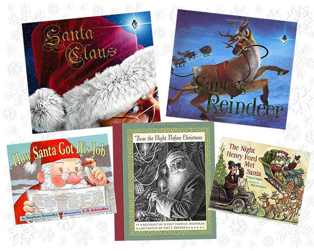 Books about Santa for Christmas advent