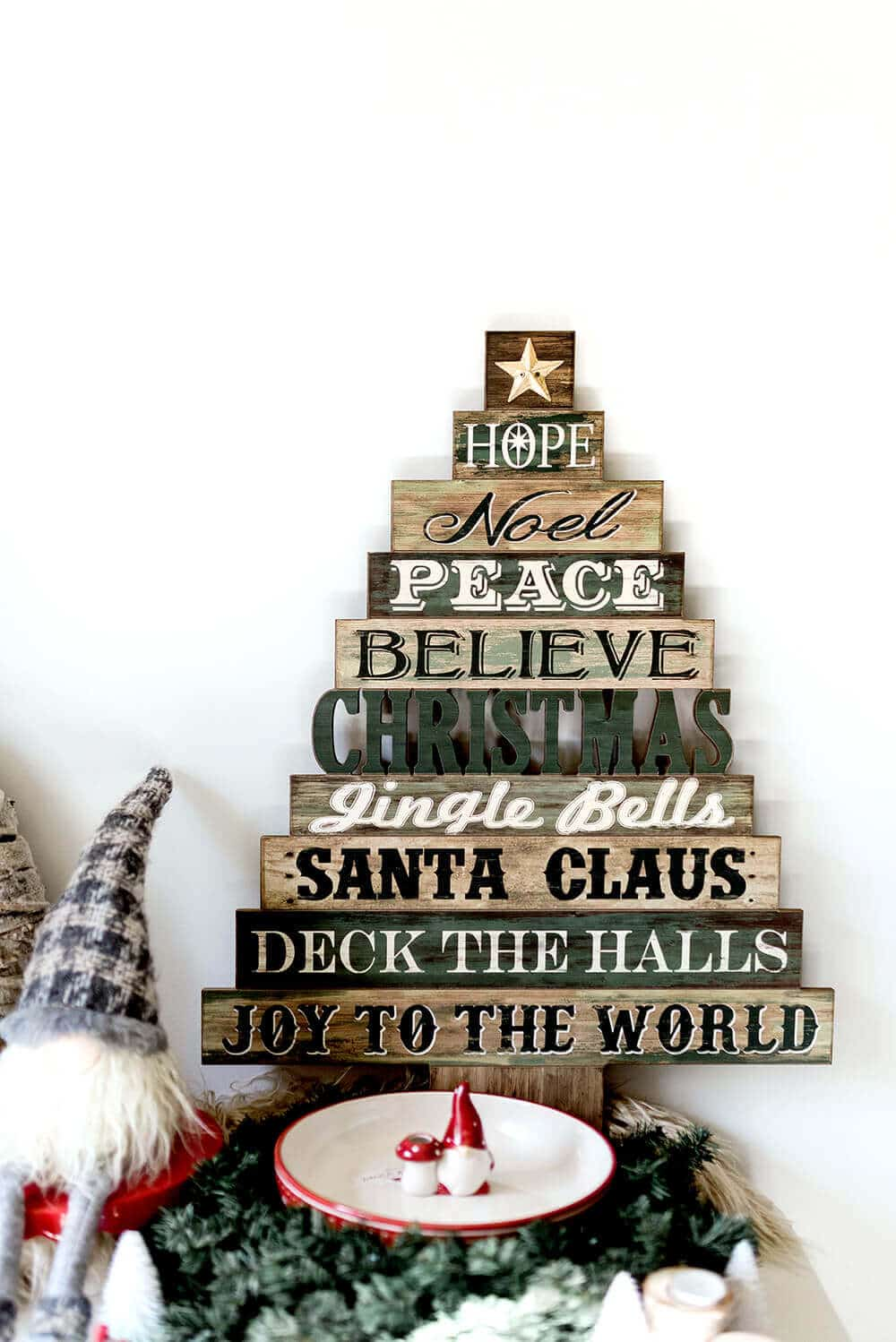 Christmas tree sign design