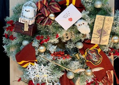 Hogwarts Christmas Wreath How To