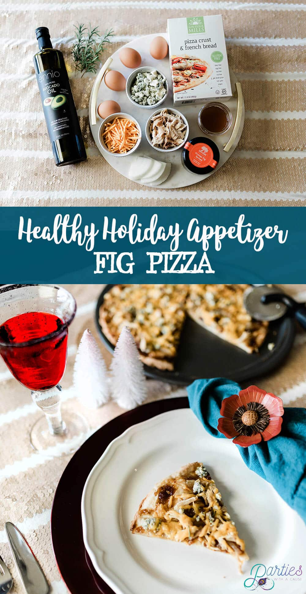 Healthy holiday fig pizza appetizer - Salt Lake Party Stylist