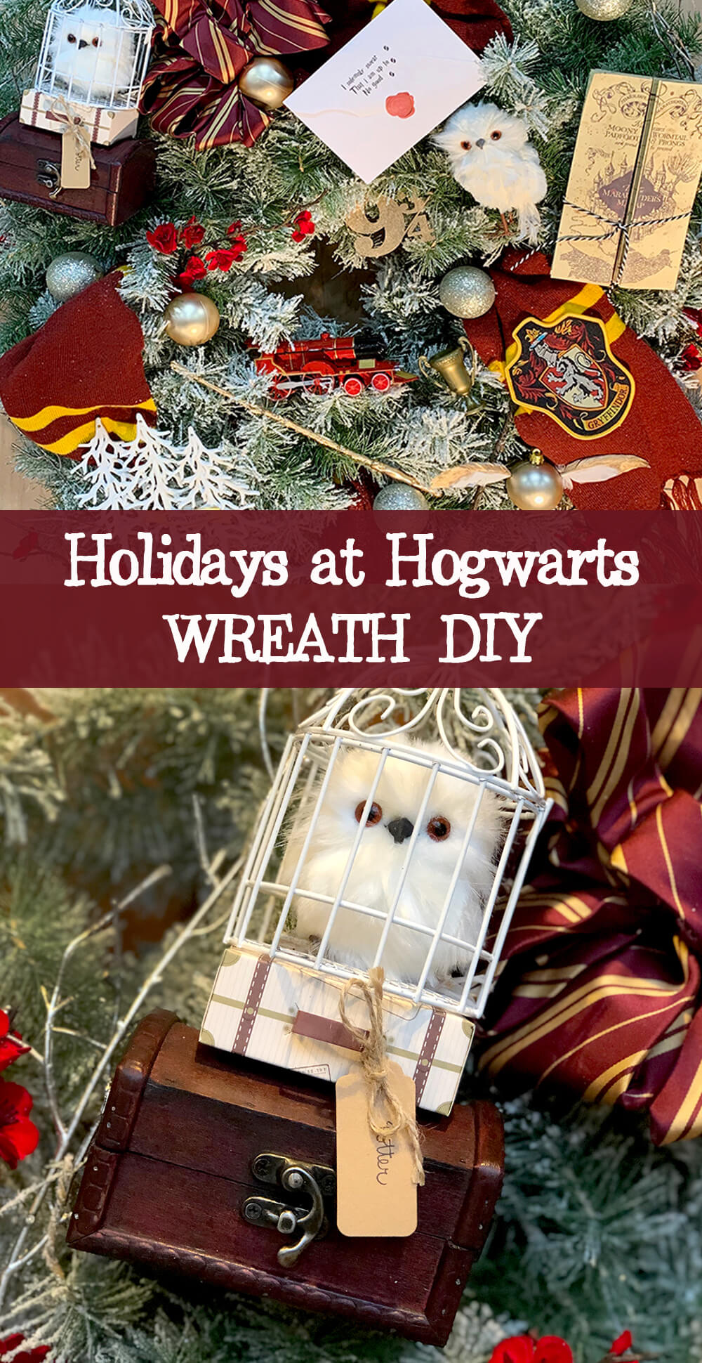 Holidays at Hogwarts Wreath DIY