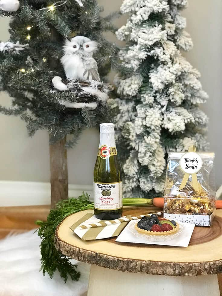 Fruit tart and Martinelli's for Upgraded Santa treats