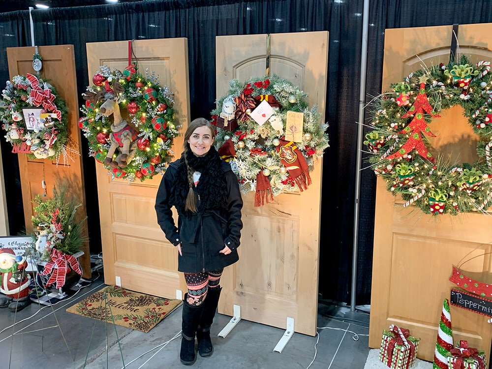 Holidays at Hogwarts Christmas Wreath donation for Festival of Trees Utah