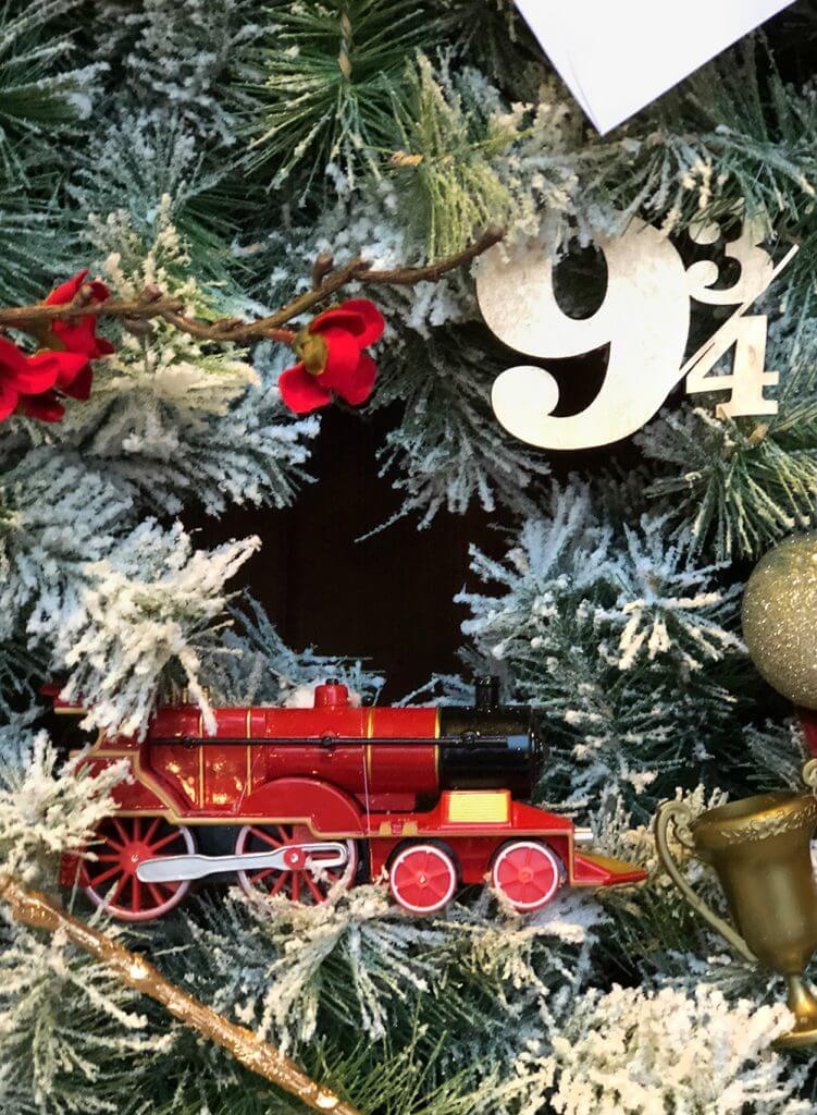 Platform 9 3/4 for the Hogwarts Express Christmas ornaments