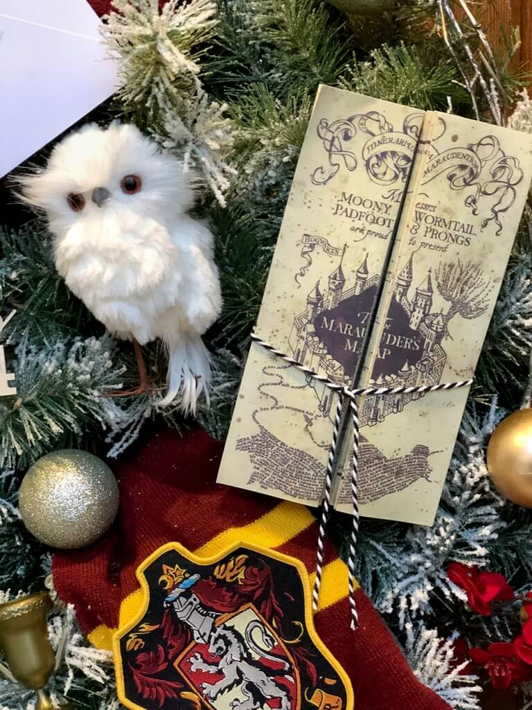 Printable Marauder's Map decoration for Hogwarts Christmas wreath