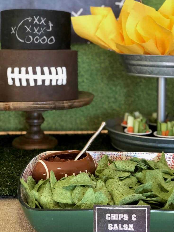 Guac chips and salsa for the big game