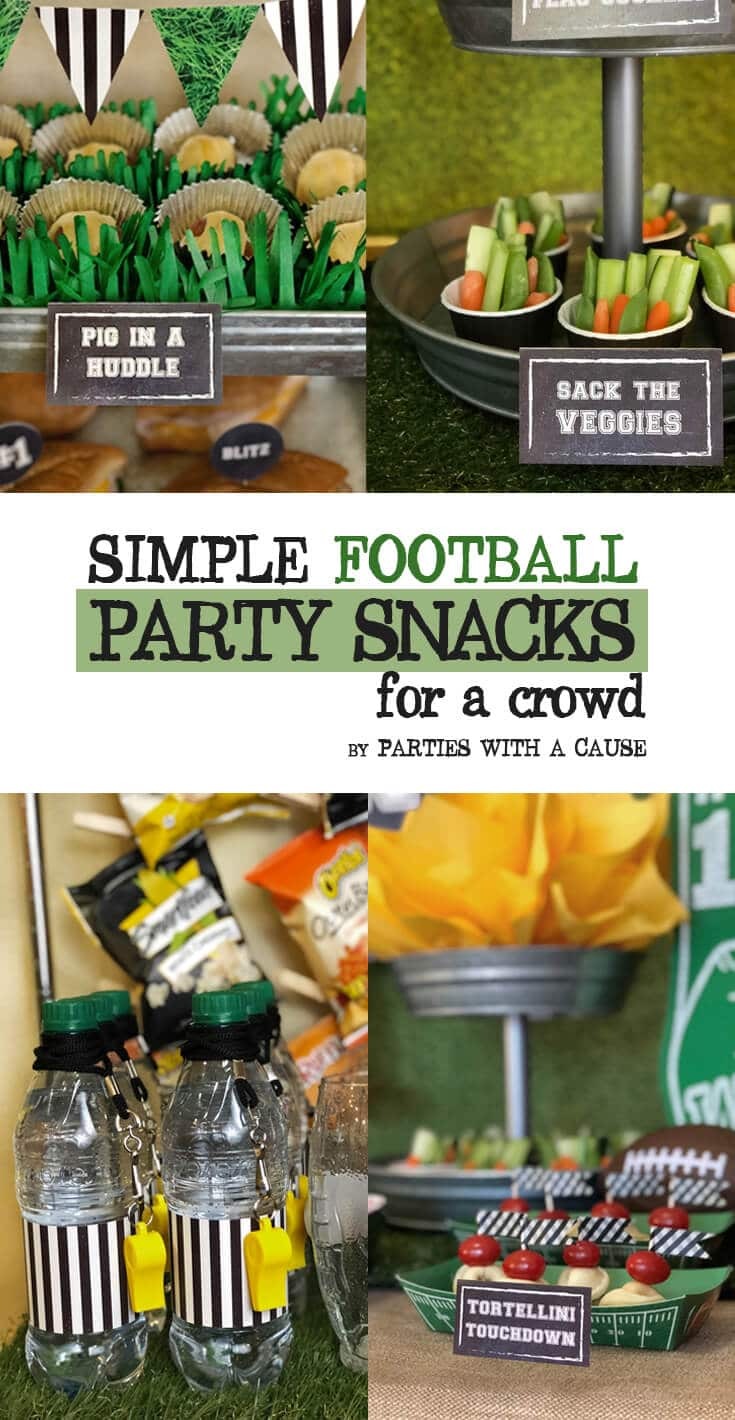 Simple Football Party Snacks for a Crowd