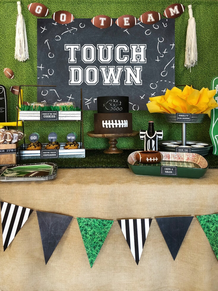Football party buffet TOUCHDOWN by Salt Lake City Party Stylist
