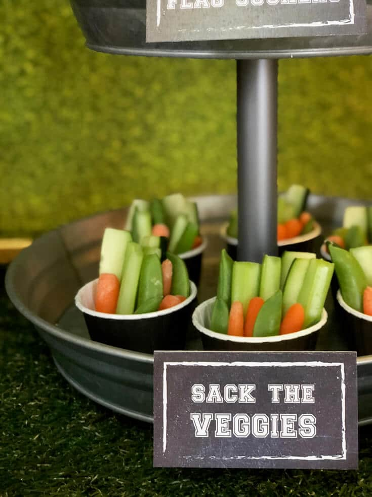 Sack the veggies for the big game